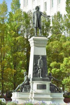 杨百翰纪念碑和经络标记-盐湖城