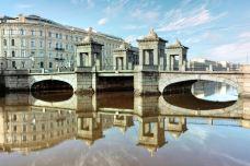 Lomonosov Bridge-圣彼得堡