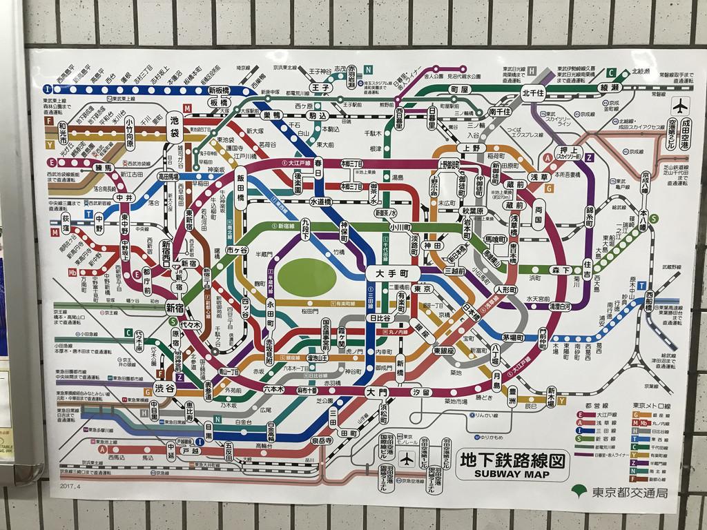 東京地鐵路線圖圖片
