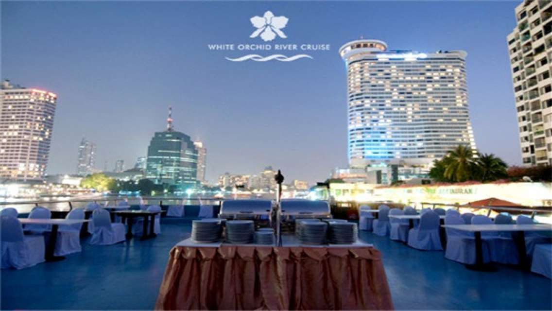 Chao Phraya White Orchid River Cruise Ticket (with Buffet Dinner)