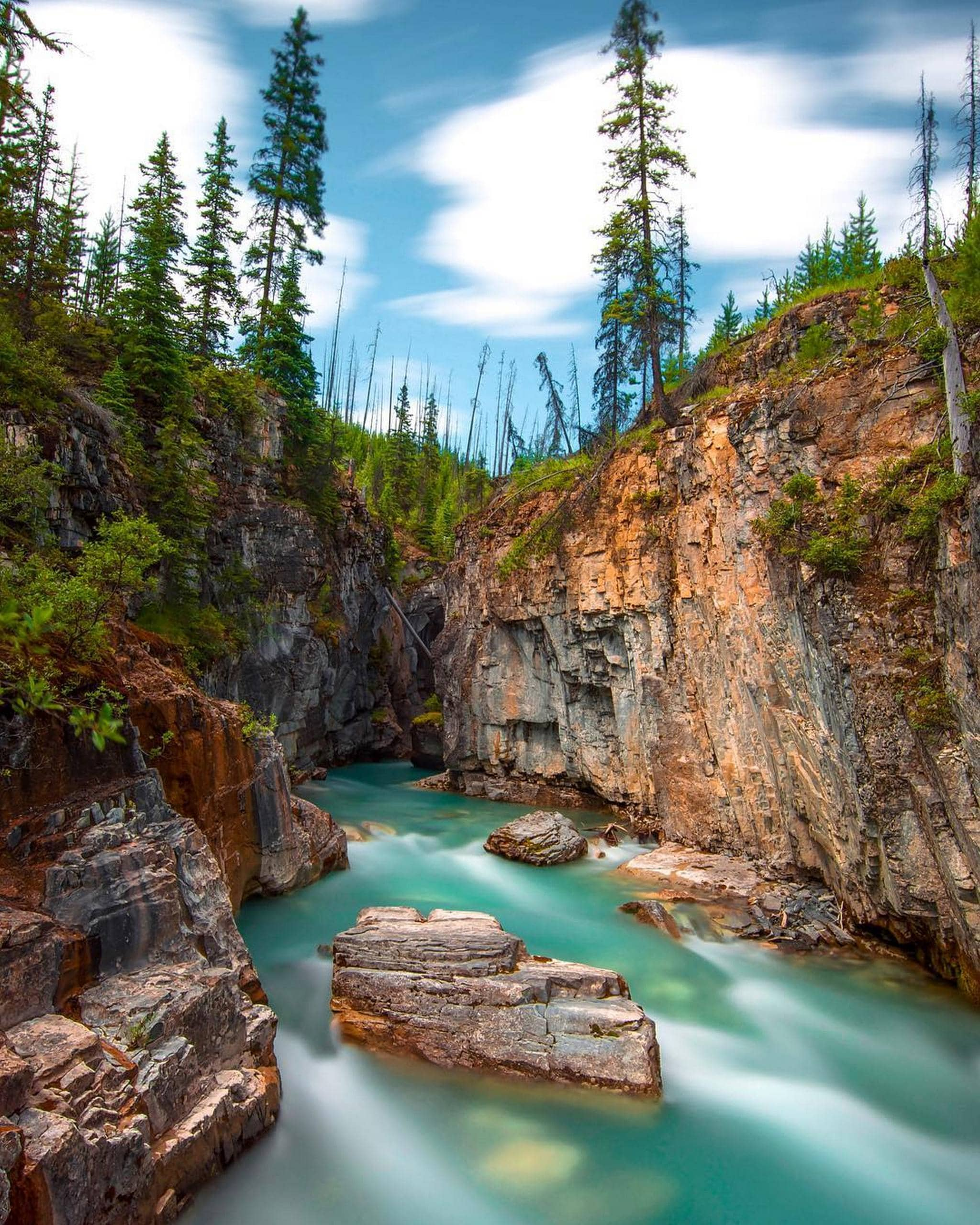 British Columbia Kootenay National Park One Day Tour [Deep Tour of The Continental Divide + Marble Canyon + Radium Hot Springs]