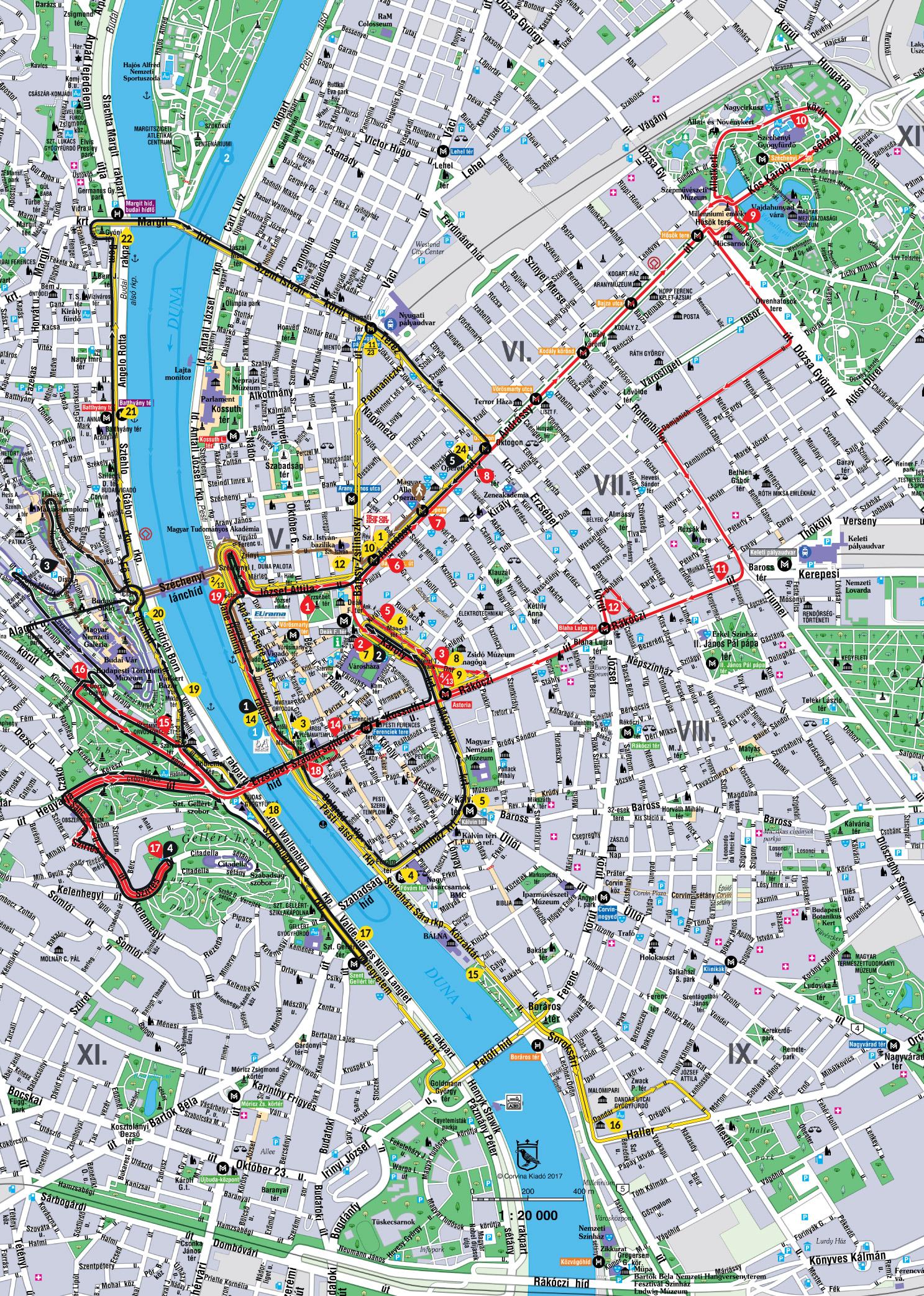 布达佩斯 地图