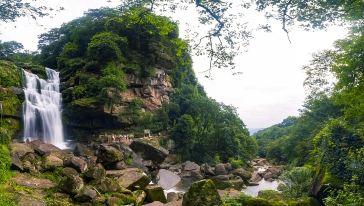 天台山响水滩瀑布 (3)