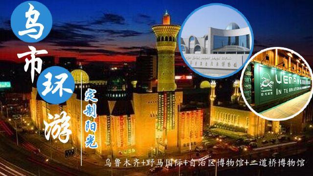 新疆维吾尔自治区博物馆+新疆国际大巴扎+野马国际一日游【玩转乌鲁木齐市+专业服务】