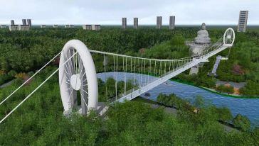 隐贤山庄玻璃桥 (3)