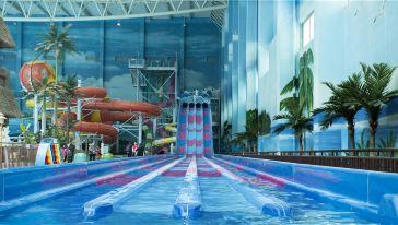 青岛万达水乐园-超漩敞开式滑梯