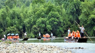 竹筏江中游-安徽省旅游集团泾县旅游发展有限公司