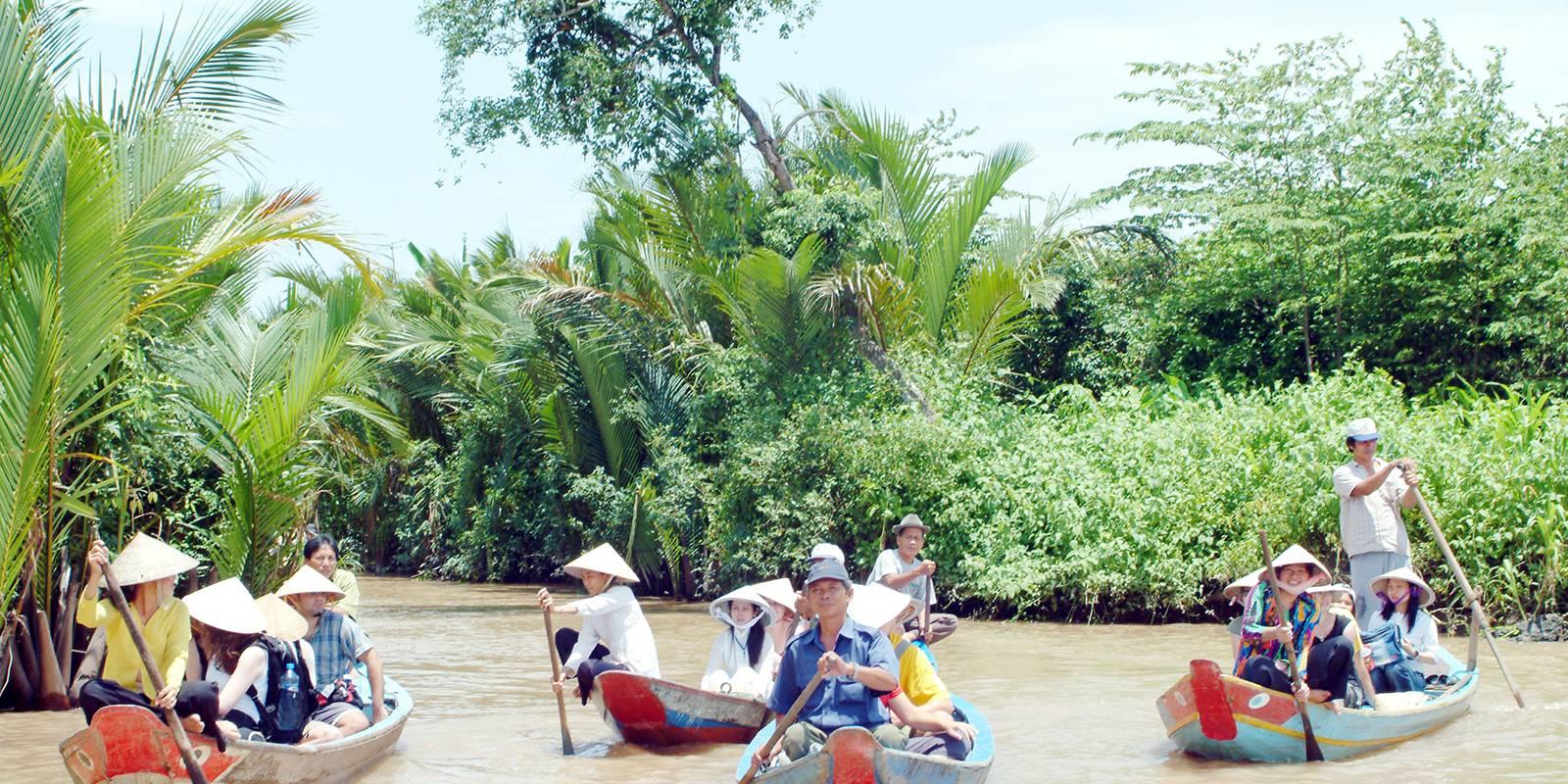 越南美壽湄公河+檳知湄公河三角洲一日遊(接送+船票+午餐+蜂蜜茶+水果)