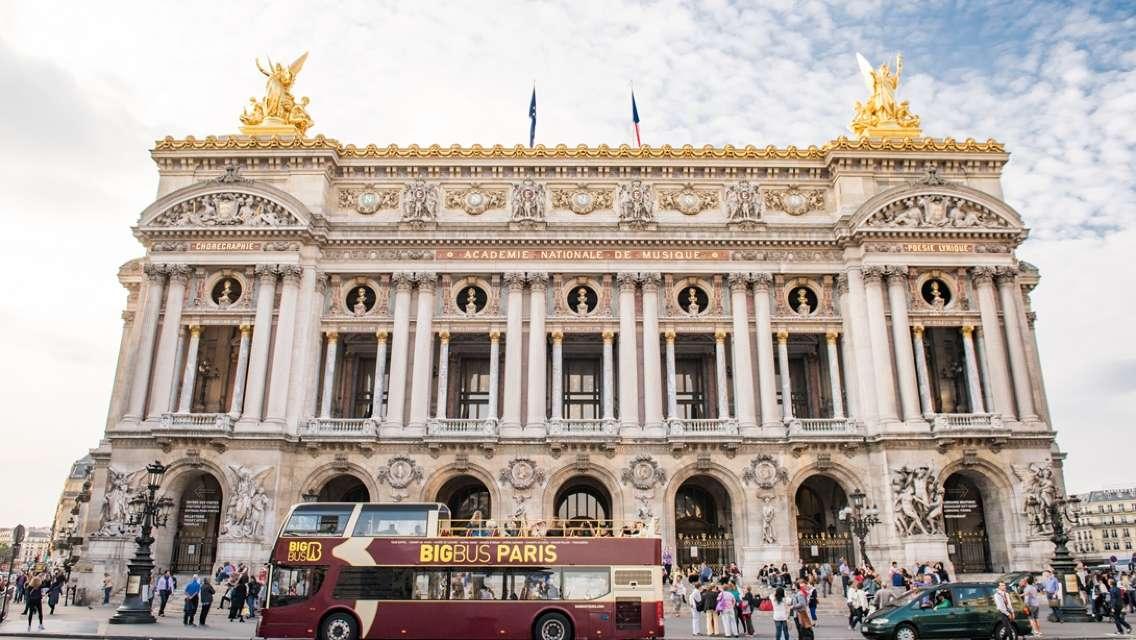 Big Bus Paris Hop-on & Hop-off Tour (optional Seine River Cruise)