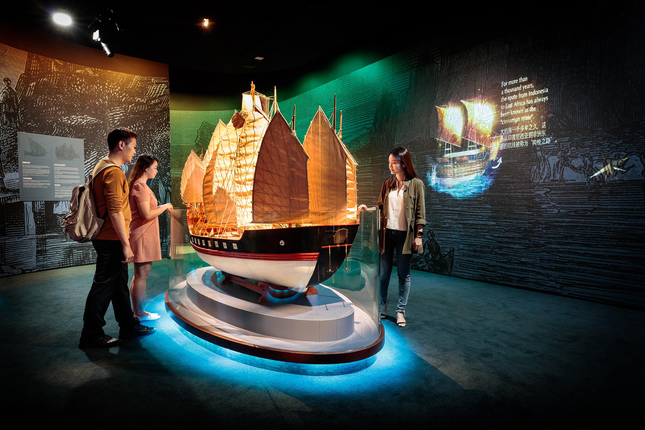 新加坡海事博物馆 - 海上丝路船只模型
